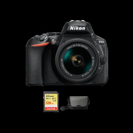 Nikon D5600 kit AF-P 18-55mm VR + card 128GB SDXC + geanta Nikon