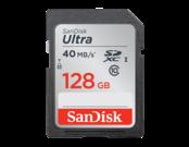 128GB SDXC Ultra CLS10 40MB/s