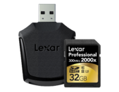 32GB SDHC CLS10 UHS-II 300MB/s + reader