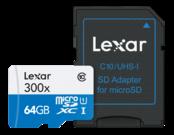 64GB mSDXC HP CLS10 UHS-I 45MB/s + adaptor SD