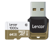 64GB mSDXC CLS10 UHS-II 150MB/s + reader