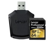 64GB SDXC CLS10 UHS-II 300MB/s citire, 260MB/s scriere + reader