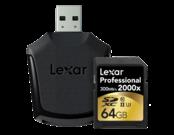 64GB SDXC CLS10 UHS-II 300MB/s + reader