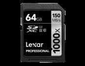 64GB SDXC CLS10 UHS-II 150MB/s