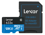 128GB mSDXC HP CLS10 UHS-I 95MB/s+ adaptor SD