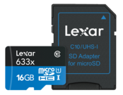 16GB mSDHC HP CLS10 UHS-I 95MB/s + adaptor SD