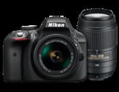 D3300 Dual Zoom Kit (AF-P 18-55 VR + 55-300 VR)
