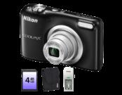 COOLPIX A10, 16.1MP Negru + card SD 4 GB + husa + incarcator cu 2 acumulatori