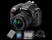 D3300 Kit AF-P 18-55mm + EN-EL14 + Card 32GB + Geanta + Cablu USB