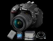 D5300 kit AF-P 18-55mm VR + EN-EL14 + Card 64GB + Geanta + Cablu USB
