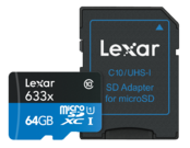 64GB mSDXC HP CLS10 UHS-I 95MB/s+ adaptor SD