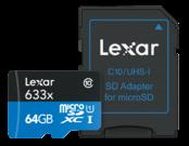 64GB mSDXC HP CLS10 UHS-I 95MB/s+ Adaptor SD