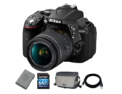 D5300 kit AF-P 18-55mm VR + EN-EL14a + Card 64GB + Geanta + Cablu USB