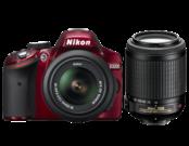 Nikon D3200 Dual Zoom Kit (18-55VR+55-200VR) (red)