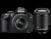 Nikon D3200 Dual Zoom Kit (18-55 VR+55-200VR) (black)