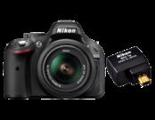 Nikon D5200 Kit 18-55mm VR (black) + WU-1a