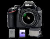 Nikon D3200 Kit 18-55mm VR II (black) + geanta + card 8GB + acumulator