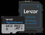 64GB mSDHC/XC High Endurance UHS-I (CLS10)