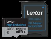 32GB mSDHC/XC High Endurance UHS-I (CLS10)