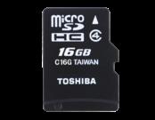 M102 16GB microSD Cls4 + adapter