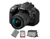 Pachet Nikon D5300 kit AF-P 18-55mm VR + EN-EL14a + Card 64GB + Geanta