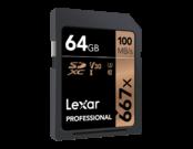 Lexar 64GB SDXC CLS10 UHS-I 100MB/s   1