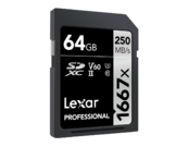 Lexar 64GB SDXC CLS10 UHS-II 250MB/s citire, 90MB/s scriere 1