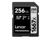 256GB SDXC CLS10 UHS-II 250MB/s citire, 90MB/s scriere