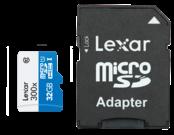 Lexar MicroSDHC 32GB CLS 10 UHS-I 45MB/s + adaptor SD 1