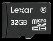 MicroSDHC 32GB CLS10 + adaptor SD