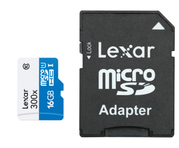 MicroSDHC 16GB CLS10 UHS-I 45MB/s + adaptor SD