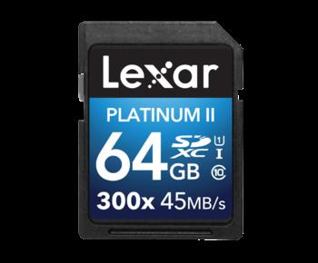 64GB SDXC CLS 10 UHS-I 45MB/s