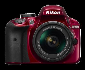 D3400 Kit AF-P 18-55mm VR (red)