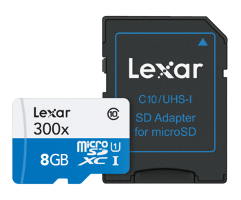 8GB mSDHC CLS 10 45MB/s + adaptor SD