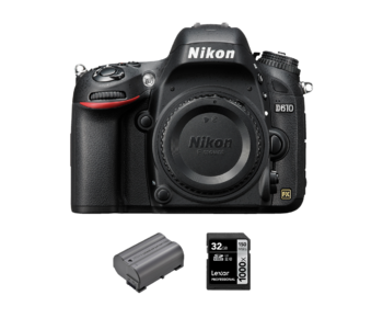 D610 body + acumulator Nikon EN-EL15a + card Lexar 32GB SDHC 150MB/s