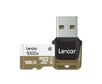 128GB mSDXC CLS10 UH-II 150MB/s + reader