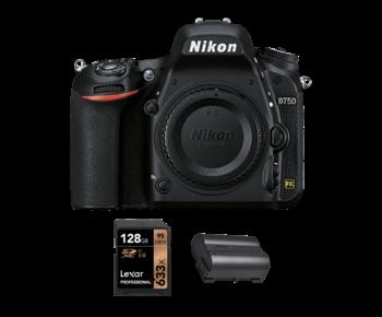 D750 body + acumulator Nikon EN-EL15b + card Lexar 128GB SDXC 95MB/s