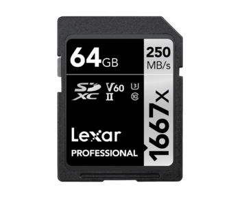 64GB SDXC CLS10 UHS-II 250MB/s citire, 90MB/s scriere