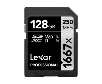 128GB SDXC CLS10 UHS-II 250MB/s citire, 90MB/s scriere