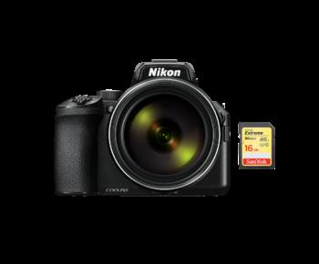 COOLPIX P950 + card 16GB SD