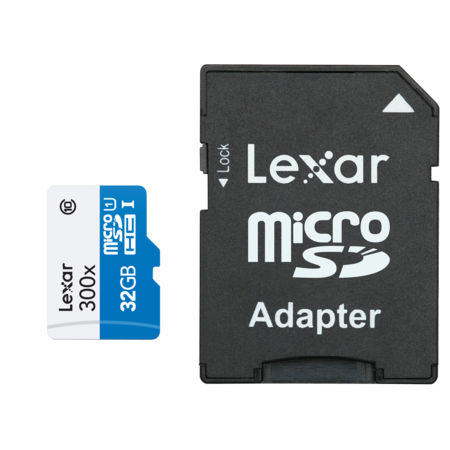 Lexar MicroSDHC 32GB CLS 10 UHS-I 45MB/s + adaptor SD