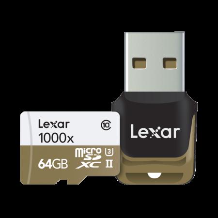 Lexar 64GB mSDXC CLS10 UHS-II 150MB/s + reader