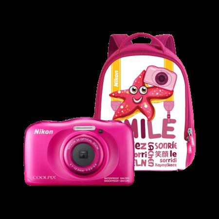 Nikon COOLPIX WATERPROOF W100 backpack kit (pink)