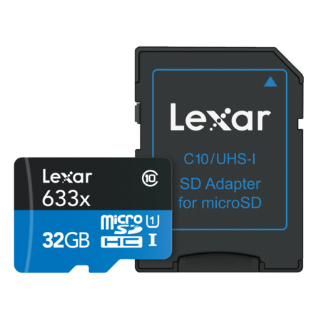Lexar 32GB mSDHC CLS 10 UHS-I 95 MB/s + adaptor SD
