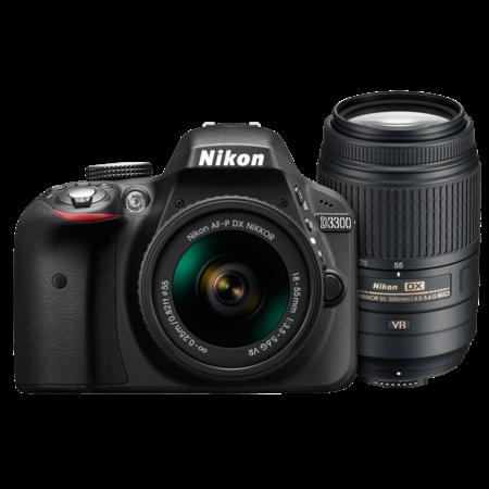 Nikon D3300 Dual Zoom Kit (AF-P 18-55 VR + 55-300 VR)