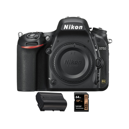Nikon D750 body + acumulator  EN-EL15 + card Lexar 64GB SDXC 95MB/s