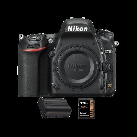 Nikon D750 body + acumulator  EN-EL15a + card Lexar 128GB SDXC 95MB/s