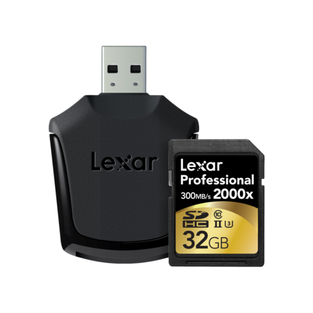 Lexar 32GB SDHC CLS10 UHS-II 300MB/s citire, 260MB/s scriere + reader