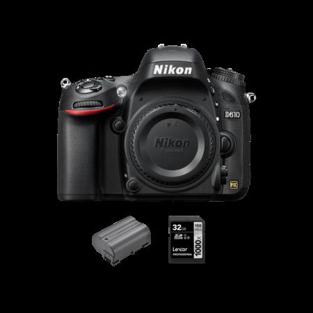 Nikon D610 body + acumulator Nikon EN-EL15a + card Lexar 32GB SDHC 150MB/s