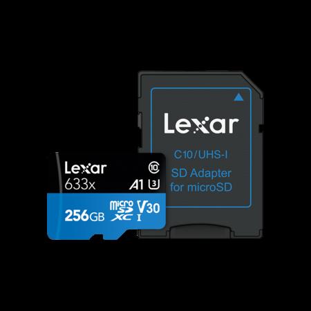 Lexar 256GB mSDXC HP 95MB/s + adaptor SD